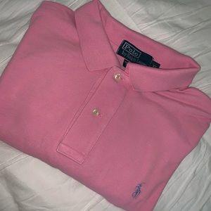 Men's polo by Ralph Lauren pink cotton shirt XL